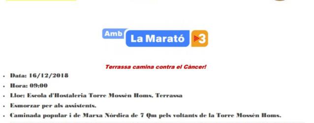 Oncolliga amb la Marató de TV3