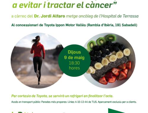 """Conferència: """"Activitat física i dieta per ajudar a evitar i tractar el càncer"""""""