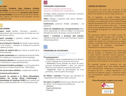 Oncolliga i la FEFAC posen en marxa una campanya de salut sobre el càncer de pròstata a les farmàcies