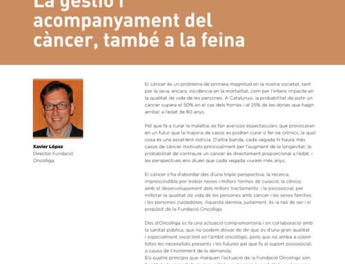 'La gestió i acompanyament del càncer, també a la feina'