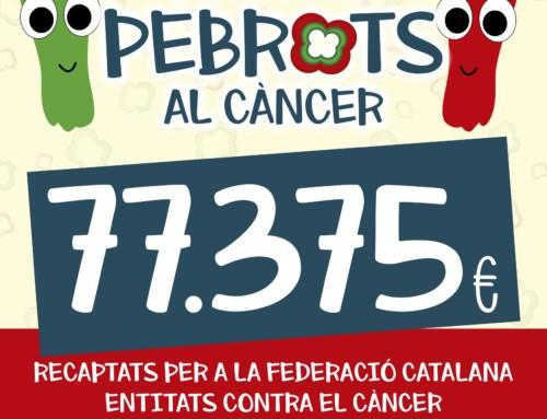 """""""Posem-li pebrots al càncer"""" aconsegueix recaptar 77.375 euros per lluitar contra aquesta malaltia"""