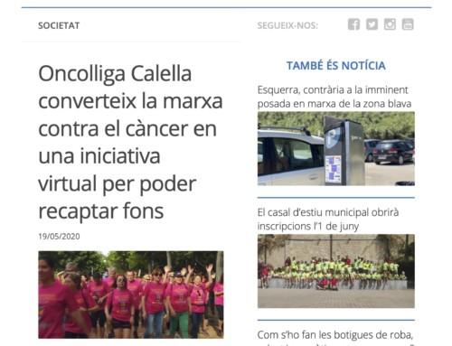 Oncolliga Calella converteix la marxa contra el càncer en una iniciativa virtual per poder recaptar fons